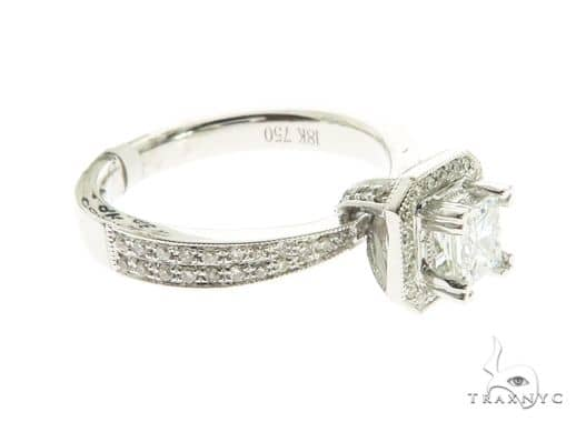 18K White Gold Prong Diamond Ring 63725 Anniversary/Fashion