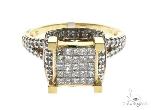 14K Yellow Gold Prong & Bezel Diamond Ring 63727 Anniversary/Fashion