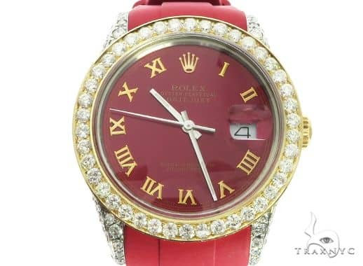 18K Yellow Gold & Stainless Steel Rolex DateJust Watch 63728 Diamond Rolex Watch Collection