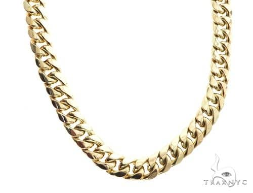 1 0f 1 Blowout Sale - 10K Yellow Gold Hollow Miami Cuban Link Chain 34 Inches 15mm 201.9 Grams Gold
