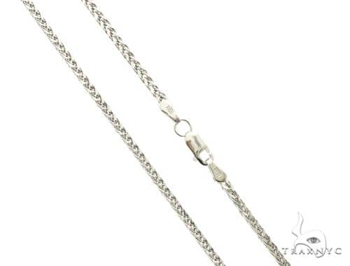 10K White Gold Hollow Wheat Chain 18 Inches 1.70MM  3.1 Grams 63766 Gold