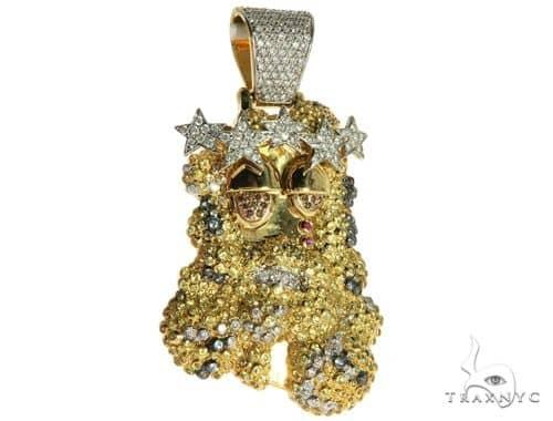 14k yellow gold prong bezel diamond custom made hip hop piece 63780 mens diamond jewelry mens pendants style 14k yellow gold prong bezel diamond custom made hip hop piece 63780 aloadofball Gallery