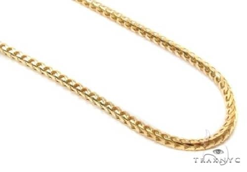 10K Gold Solid Franco Link Chain 24 Inches 3mm 32.0 Grams 63805 Gold