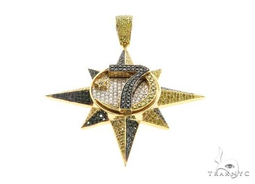 14K Yellow Gold Prong Custom Diamond Star Pendant 63852 Metal