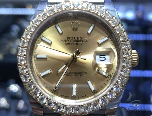 41mm DateJust Diamond Rolex Watch Jubilee 63870 Diamond Rolex Watch Collection