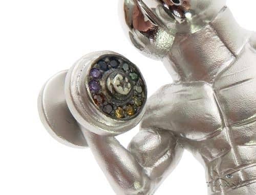 14K White Gold Custom Made Diamond Pendant Metal