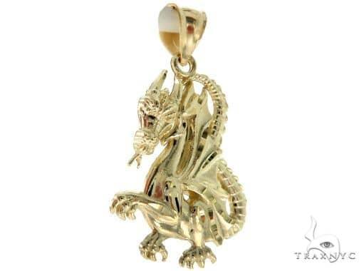 10K Yellow Gold Dragon Pendant 63902 Metal