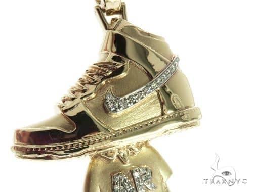 Custom Made Pave Diamond Pendant 63909 Metal