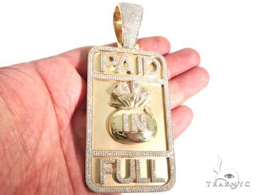 Custom diamond pendant paid in full 63921 mens metal yellow gold mens diamond jewelry mens pendants metal custom diamond pendant paid in full 63921 aloadofball Image collections