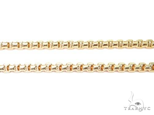 14K Yellow Gold Hollow Round Box Link Chain 20 Inches 3mm 12.4 Grams 63932 Gold