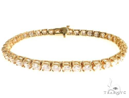 Mens Diamond Jewelry   Men s Bracelets   Men s Diamond Bracelets   18K  Yellow Gold Diamond Tennis Bracelet 63940 402c54b8a