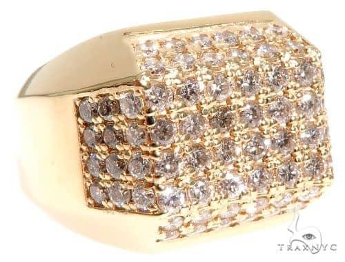 14K Yellow Gold Diamond Ring 63967 Stone