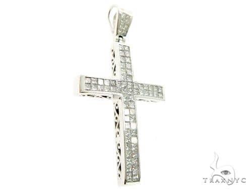 2 Row Invisible Diamond Cross 63972 Diamond