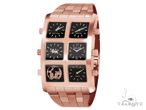 IceLink Tawny 6TZ Mens Rose Gold Watch 63975 IceLink Watches