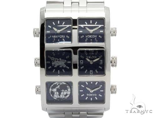 IceLink Luna 6TZ Mens Stainless Steel Watch 63976 IceLink Watches