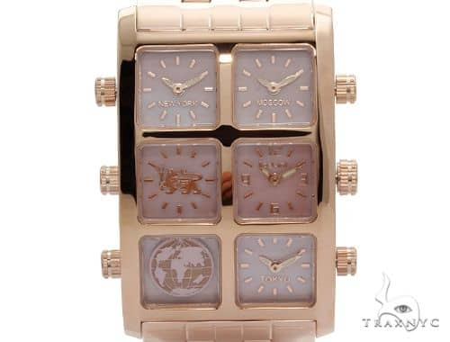 IceLink Aria 6TZ Womens Pink Dial Rose Gold Watch 63977 IceLink Watches