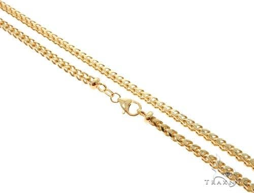 10K Yellow Gold Solid Franco Link Chain 22 Inches 4mm 33.0 Grams 63979 Gold
