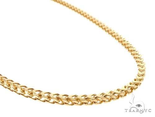 10K Yellow Gold Solid Franco Link Chain 24 Inches 4mm 36.0 Grams 63980 Gold