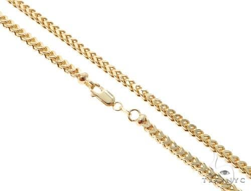 10K Yellow Gold Hollow Franco Link Chain 26 Inches 3.5mm 19.4 Grams 63987 Gold