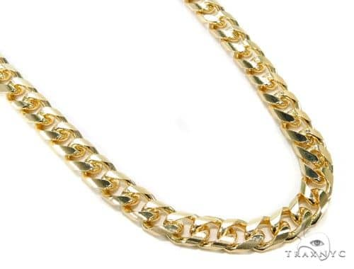 Solid Cuban Curb Link Chain 10K Yellow Gold 24 Inches 10mm 129.2 Grams 64000 Gold