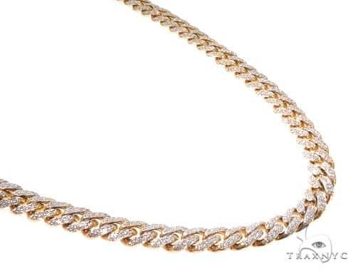 Pave Diamond Miami Cuban Link Chain 20 Inches 10mm 107.9 Grams 63903 Diamond