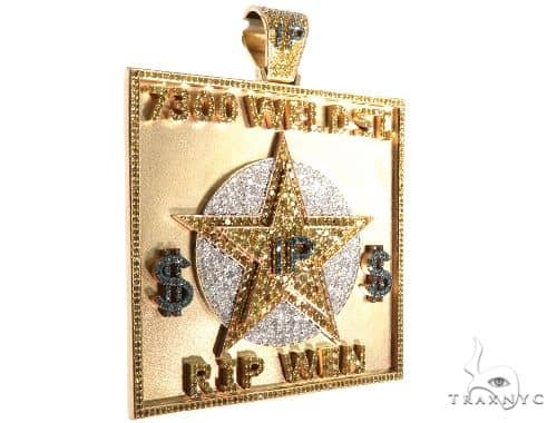 Custom Diamond Pendant 64002 Metal
