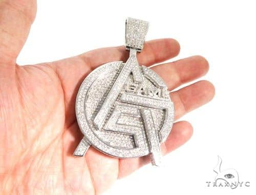 Pave diamond custom made gas game pendant mens metal white gold 14k mens diamond jewelry mens pendants metal pave diamond custom made gas game pendant aloadofball