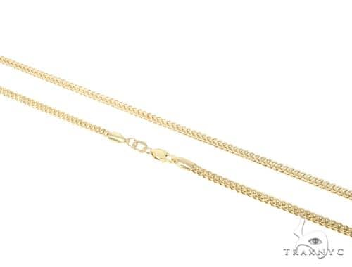 14K Yellow Gold Hollow Franco Link Chain 30 Inches 2mm 17.3 Grams 64011 Gold