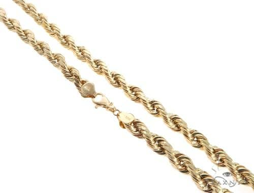 10K Yellow Gold Rope Chain 30 Inches 8mm 2950 Grams 64037 Mens Gold