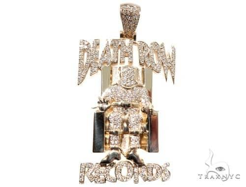 Custom pave diamond death row records charm pendant 64147 yellow gold 0 mens diamond jewelry mens diamond chains custom pave diamond death row records charm pendant 64147 aloadofball Choice Image