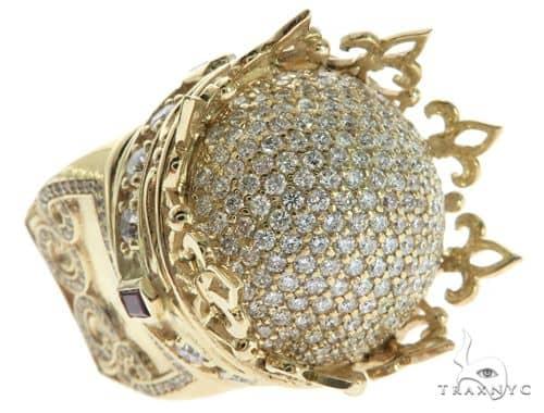 20b40fffb2f2f Small Royal Crown Ring Mens Stone Gold 14k Round Cut 2.43 ct