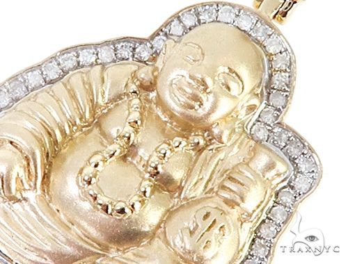 Details about  /10K Yellow Gold Over Round Pave Meditation Diamond Buddha  Men/'s Charm Pendant