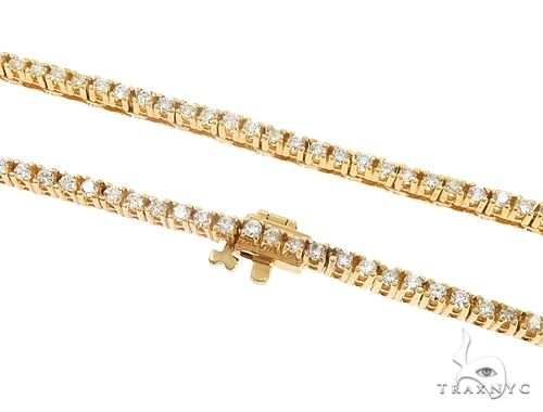 Details about  /Yellow gold finish created diamond Tennis 3mm necklace bracelet Gift Idea