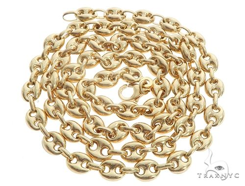 727d51477 Mens Diamond Jewelry / / Men's Gold Chains / 14K Yellow Gold Puffed Gucci  Link 24 Inches 6.5mm 23.2 Grams 64965