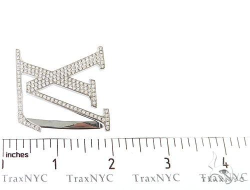 61d077c52de Diamond Louis Vuitton Belt Buckle 65042 Mens Style White Stainless ...
