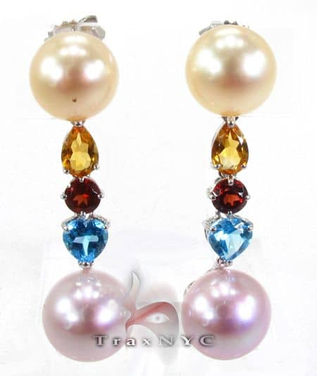 Womens Jewelry Unique Earrings Stone Multi Colored Pearl
