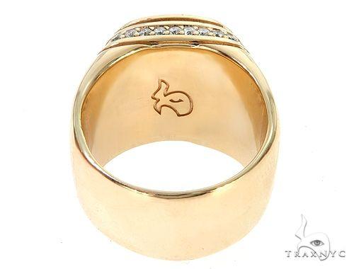 250cfc2de26efe Mens Diamond Jewelry / Men's Rings / Stone / 14K Yellow Gold Black Diamond  Cushion Cut Pinky Ring 65079