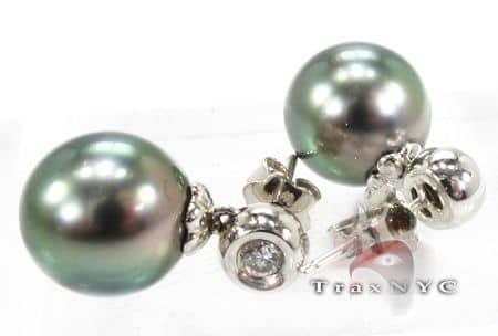 Tahitian Pearl Earrings 2 Stone