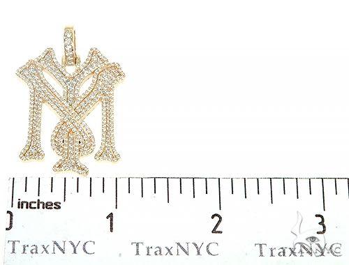 Details about  /1.26 CT Round Sim Diamond Men/'s  Custom Initia Name Pendant Free Stud Real Silve