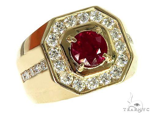 Gemstone Ring Ruby Ring Gold Ring