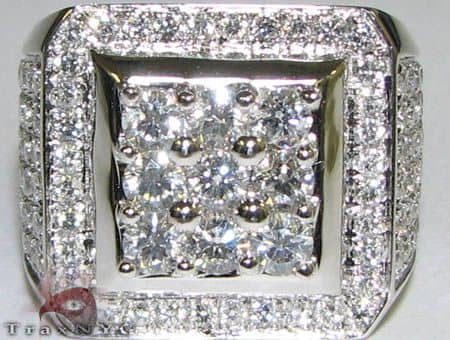 Freeze 10k White Gold Premiere Ring Stone