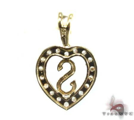 Golden S Pendant Metal