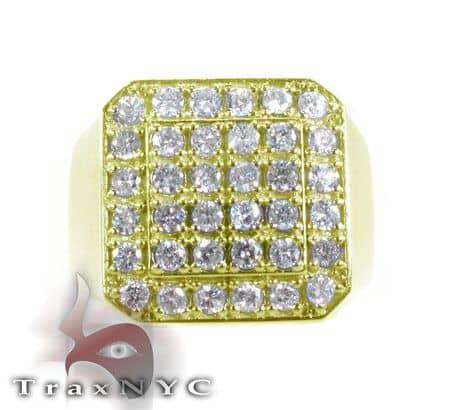 TraxNYC Heavy 10k Yellow Gold Ring Stone