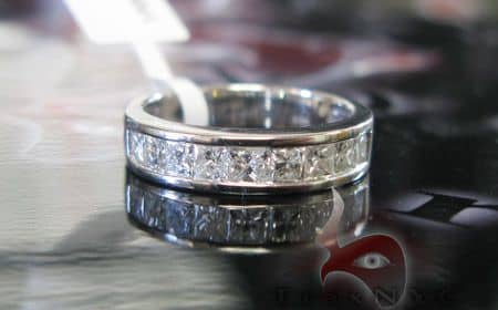 Invisible Princess Cut Engagement Ring Wedding