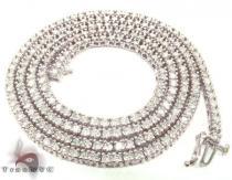 White Gold Diamond Chain 30 Inches, 3mm, 45 Grams Diamond