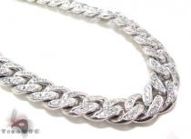 Prong Diamond Cuban Chain 32 Inches 13mm 347.1 Grams Diamond