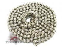 Bullet Chain 30 Inches, 67.10 Grams Diamond