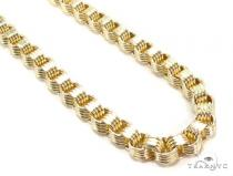 10k Yellow Gold Rolo Fancy Chain 32 Inches 5.5mm 28.8 Grams 49756 Gold