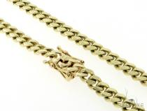 Miami Cuban 14K Gold 26 Inches 7mm 90.1 Grams 56549 Gold